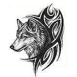 Hermoso lindo Sexy Body Art Beauty Makeup Lobo fresco a prueba de agua pegatinas tatuaje...