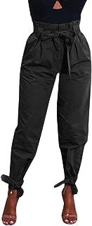 Hibote Pantalones De Combate De Mujer Bolsillo De Cintura Alta Con Cadenas De Hip Hop Pantalones Cargo De Haren Para Ninas Pantalones Anchos