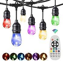 RGBW Lichtsnoer Buiten, Bomcosy Kleurrijk Lichtsnoeren voor Buiten , 30M/50+1 LEDs, IP65 Waterdicht Lichtketting Buiten...