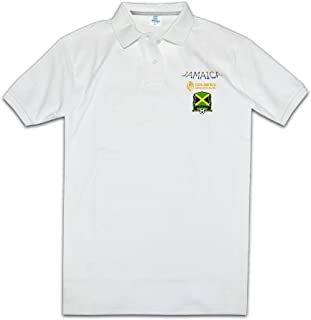 Men Funny Sayings Screw Neck Jamaica National Football Team Logo2 Polo T-shirt