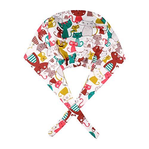 NONE OP Haube Chirurgische Hut Baumwolle Kochmütze Verstellbar Kopfhauben Peeling Kappe für Arzt Zahnarzt Krankenschwester Chemo Bandana Medizinische Kopfbedeckung