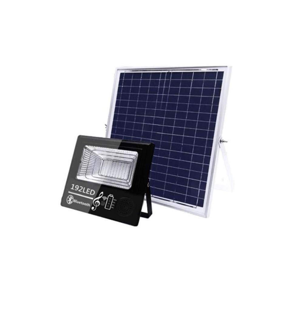 Foco Proyector Solar Exterior, Altavoz Bluetooth Inteligente Luces De Seguridad Para El Hogar A Prueba De Agua Jardín, Super Brillante Nueva Farola Rural Lámpara De Pared [Clase Energética A +++]: Amazon.es: Hogar