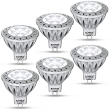 AGOTD MR16 GU5.3 12V LED Bulb Cool White 6000K,7W,50W Halogen Bulbs Equiv,GU 5.3 Fittings,Aluminum Casing, Energy Saving, High Compatiblity,Brightness,560LM,12V DC AC, Not Flicker, 38 Deg,6pcs