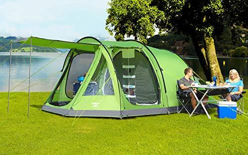 BERGER Tunnelzelt Ascoli 5 Personen Familienzelt Gruppenzelt Campingplatz Zelt Festival grün Angeln