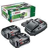 Bosch - Set básico de 2 baterías de 18 V y 2.5 Ah con cargador rápido compacto AL 1830 CV