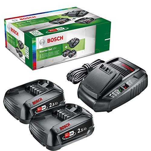 Bosch Starter-Set (2x 2,5 Ah Akkus, 18 Volt System, Ladegerät, im Karton)