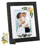 CaiTang Marco de Fotos, Negro, 18x23cm, Marco de Madera, para Accesorios, Collage de Fotos, Marco de fotos de boda