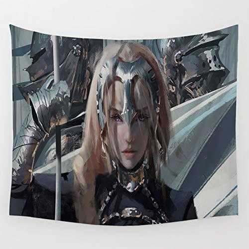 Tapiz para decoración de dormitorio de la serie Fate Grand Order Ruler fantasía chica como arte de pared y decoración del hogar 210 x 150 cm