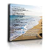 Footprints In The Sand Poem Canvas Print Art No Frame To Hang Home Decor Wall Decor, Canvas Print Wall Art Oil Painting Living Room Dining Room Bedroom Home Office Modern Wall Decor 12'x12'