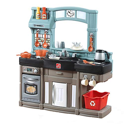 Step2 Best Chefs Kitchen Playset | Kids Play Kitchen with 25-Pc Toy Accessories Set | Real...