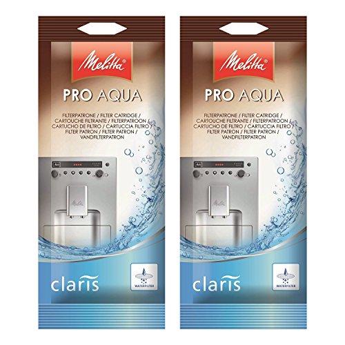 2x Melitta 192830 Pro Aqua Filterpatrone für Kaffeevollautomaten Claris