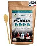 TOBARO Erythritol, Alternatif au sucre, Erythritol poudre, Sucre pour diabétique, Zéro calories, Erythritol sans Ogm, sans Gluten, 0 kcal, sans glucide adapté keto, Ceto + cuillère en bois gratuit