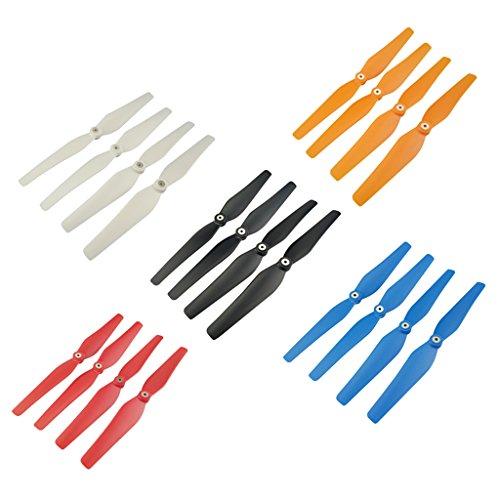 Bonarty Satz Von 20 Stück Fünf Farben Propeller Für Syma X8C X8W X8G X8HW X8HC RC Quadcopter Drone Ersatzteile DIY