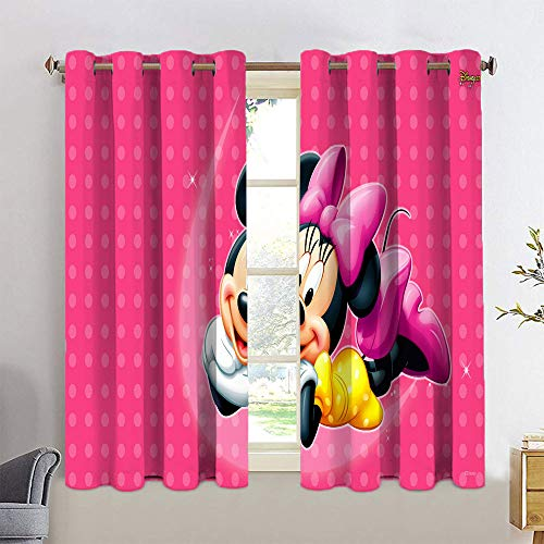 Cortinas aisladas con aislamiento de Mickey Minnie Mouse de eficiencia energética, cortinas opacas de 42 x 63 cm