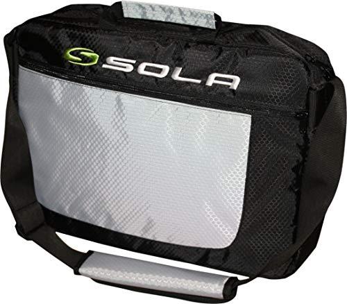 SOLA Commuter Laptop Schoudertas - Zwart/Zilver