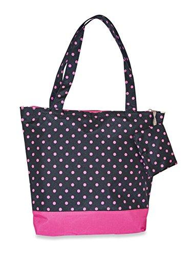J Garden Polka Dot Tote Bag (Black Pink)