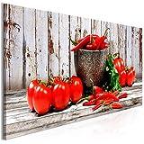 decomonkey Bilder Küche Gemüse 120x40 cm 1 Teilig
