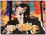 """Surfilter Impresión en lienzo Decoración moderna Pintura en lienzo Cartel vintage Impresión en lienzo Lobo de Wall Street Money Talks Cuadros de arte de pared para sala de estar 27.5"""" x 39."""