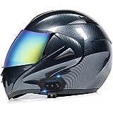 Flip Up Casco para Motocicleta,ECE Homologado Casco de Moto Scooter para Mujer Hombre Adultos con...