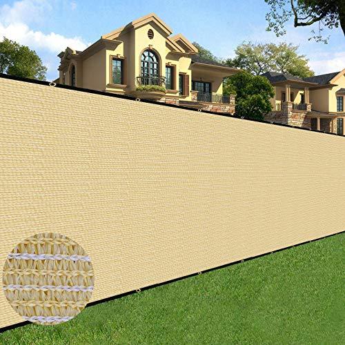 Sunnyglade 6 feet x 50 feet Privacy Screen Fence Heavy Duty Fencing Mesh Shade Net Cover for Wall Garden Yard Backyard (6 ft X 50 ft, Sand)