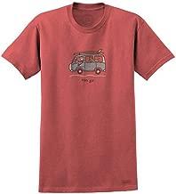 Life is Good VW Surf Van Go Men's T-Shirt, Barnyard Red
