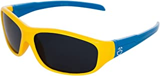Flexible Rubber Kids Sunglasses for Boys and Girls - Bendable Unbreakable Silicone Gel Frame with Polarized Lenses - Yello...
