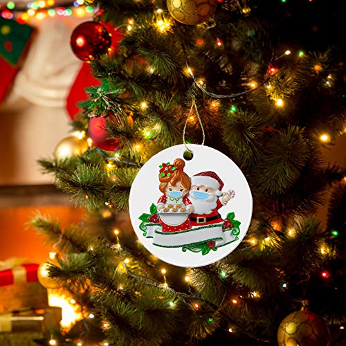 jayotai Personalized Quarantine Family 2020 Christmas Ornament Family Members,Reindeer Snowman Hanging Gifts for Decorations Xmas Tree Hanging