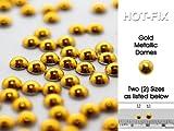 Botón & Lazo Metálico Domos–Color Dorado, 70piezas, 4.0mm de diámetro