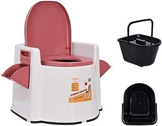 Bedside Commode, Portable Toilet/Pregnant Women Elderly Toilet/Camping Toilets Portable/Squatting Elderly Toilet Stool, Ho...