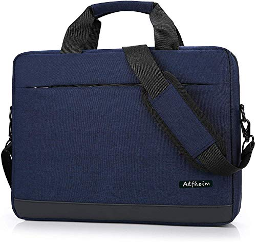 Alfheim Laptop Bag with Shoulder Strap, 14 Inch Lightweight Soft Briefcase for Men Women Student Business Work School, Compatible with Hp/Macbook, Blue