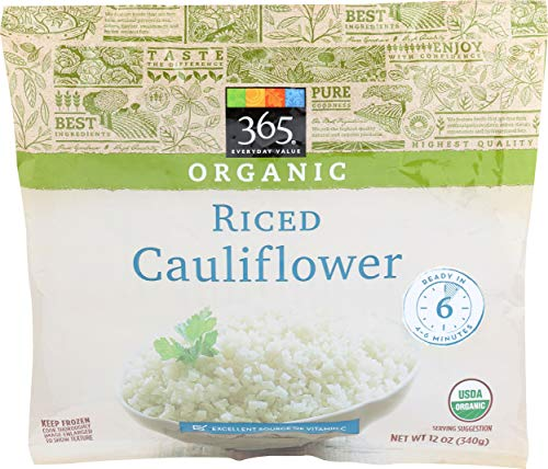 365 Everyday Value, Organic Riced Cauliflower, 12 oz, (Frozen)