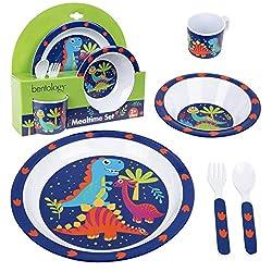 5. Bentology Dinosaur Mealtime Kid's Feeding Set (5pcs)