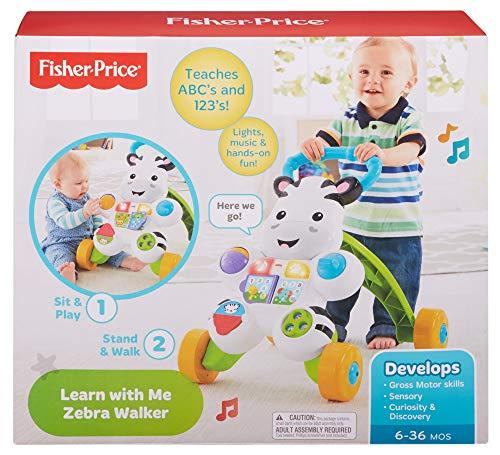 Fisher Price- Zebra de Juguete, Multicolor (Mattel 900 DLF00)
