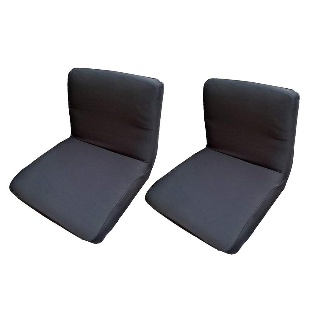 表現理論的ショルダー椅子カバー チェアカバー ダイニングチェアカバー ストレッチ シンプル 防汚 無地 黒 2個