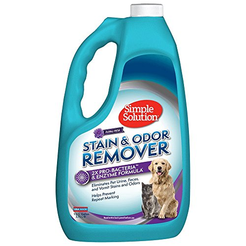 Simple Solution Pet Stain and Odor Remover | Enzymatic Cleaner with 2X Pro-Bacteria Cleaning Power | Floral Fresh, 1 Gallon