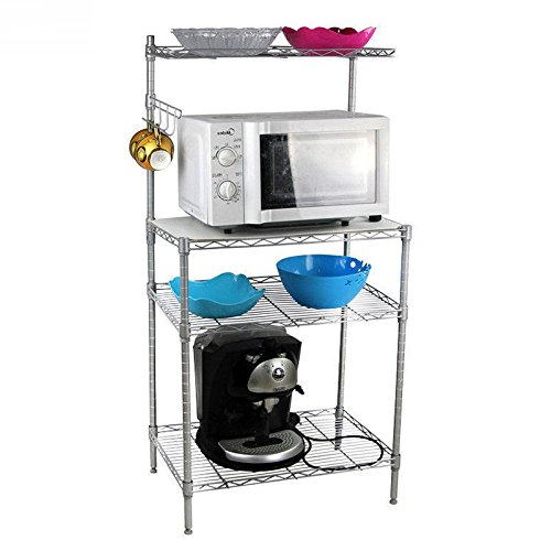 4 supreme Tiers Baker's Rack Kitchen Fort Worth Mall Cart Accessories Utility Spi Baking