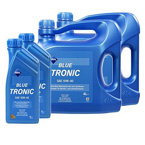 2x 1L + 2x 4L = 10 LITER ARAL BLUETRONIC BLUE TRONIC 10W-40 MOTOR-ÖL MOTOREN-ÖL