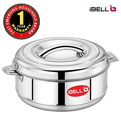 iBELL SS50C Stainless Steel Casserole, 5 Litre, Hotpot, Healthy & Hygienic Serveware