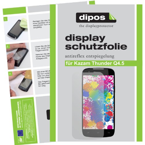 dipos I 2X Schutzfolie matt kompatibel mit Kazam Th&er Q4.5 Folie Bildschirmschutzfolie