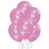ocballoons Palloncini Battesimo Rosa Bambina Bimba Addobbi e Decorazioni KIT per Feste Made in ITALIY Biodegradabili Gonfiabili con Bombola a Elio Confezione 20pz