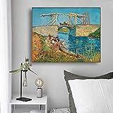 """Vincent van Gogh arte pintura al óleo""""puente"""" cartel decoración de la pared imagen sala de estar dec..."""
