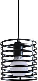 Lámpara Vintage Colgante Luz Industrial Lámpara de Techo Retro Casquillo E27, Moderna Lámpara de Techo para Loft Restaurante Coffee Bar Color Negro