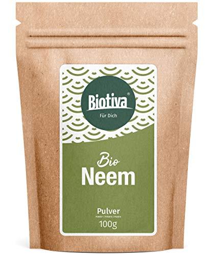 Neem Pulver Bio 100g - Azadirachta Indica - Neembaum - Niembaum - Ayurveda - Bio-Qualität - Abgefüllt und kontrolliert in Deutschland (DE-ÖKO-005)