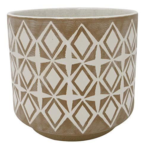 Amazon Brand – Rivet Geometric Ceramic Planter, 8.625