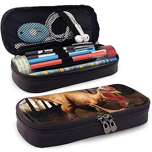 Astuccio portamatite in pelle PU, custodia segnalibro di stoccaggio dinosauro strano, borsa per trucco cosmetico, astuccio portamatite per organizer di cancelleria