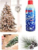 Christmas Fake Artificial White Spray Snow - 13-oz Can - Indoor or Outdoor Spray on Tree Branches, Accent Garland, Wreaths & Centerpieces, Decorate Windows, Mirrors & Vases Winter Xmas 2019 Craft