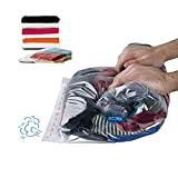 Travel Space Saver Bags ,Compression Storage Bags for Clothes (No Vacuum Needed), 12-Pack Roll-Up Compression Bags ,Packing Organizers for Travel and Home Storage by Tobion