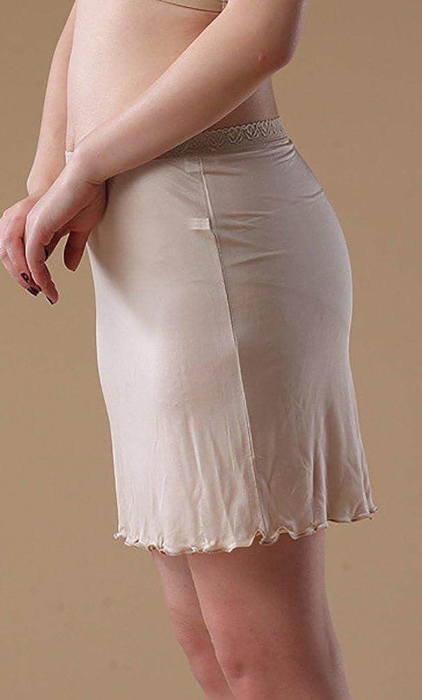 Baymate Damen Underwear Stricken Knielanger Unterrock Unterkleid