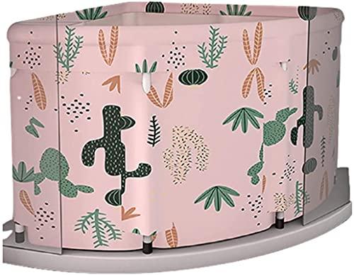 showyow 2021 Nuevo Kit de Cubo de bañera Plegable portátil para Adultos, Familia, PVC, Belleza, bañera de SPA, bañera de bebé, Cubo de baño, Salidas de Drenaje Dobles, 3 C