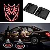 3D Wireless Magnetic Car Door Step LED Welcome Logo Shadow Ghost Light Laser Projector Lamp (Red Transformers Autobots)
